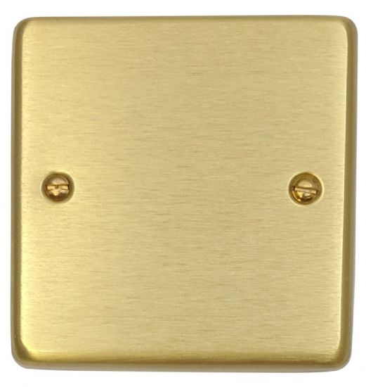 G&H Standard Plate Satin Brushed Brass